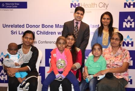 Photo of Four Thalassemia major Kids Treated Through Unrelated Donor BMT at Narayana Health City