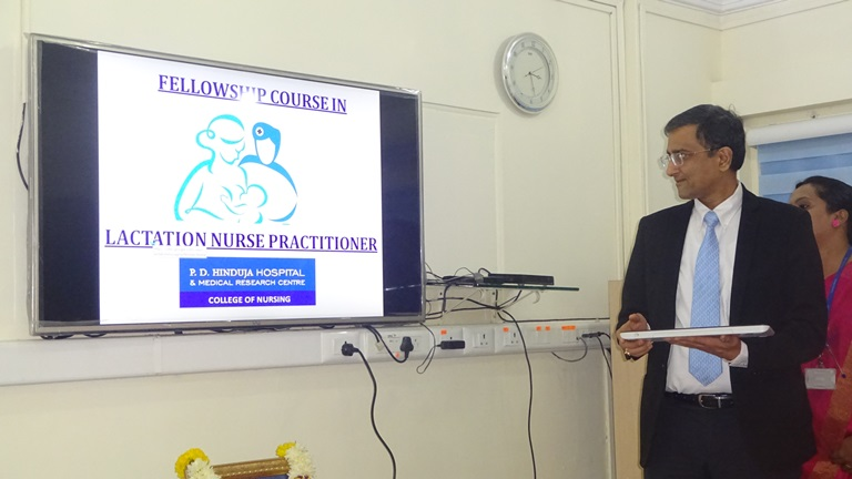 Photo of India's first Lactation Consultant Course at P.D. Hinduja College of Nursing