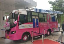 "Photo of Rotary Palm Ville & Sakra Hospital launch the Pink Express with the mission ""Early Detection. Saves Lives"""