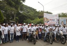 Photo of Walkathon organised by Sagar Hospital on the occasion of World Heart Day