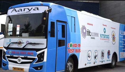 COVID-19 test bus