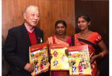 Photo of Sasakawa Leprosy Initiative, MoH&FW and WHO India launch flipchart for ASHAs