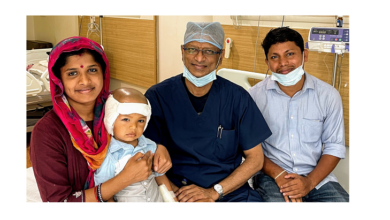 Photo of Toddler undergoes bilateral cochlear implantation