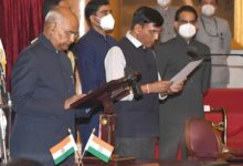 Photo of Mansukh Mandaviya sworn in as Union Health Minister