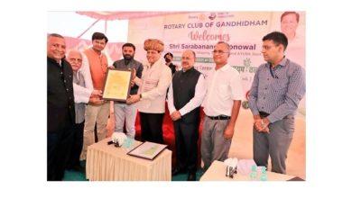 Photo of Union Ayush Minister Sarbananda Sonowal inaugurates 'Ayush Van' in Gandhidham